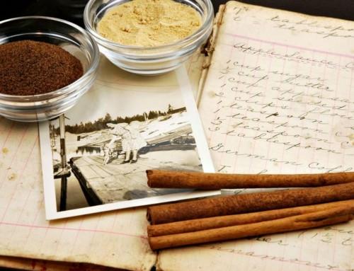 Grandma's Old Cookbook, a poem