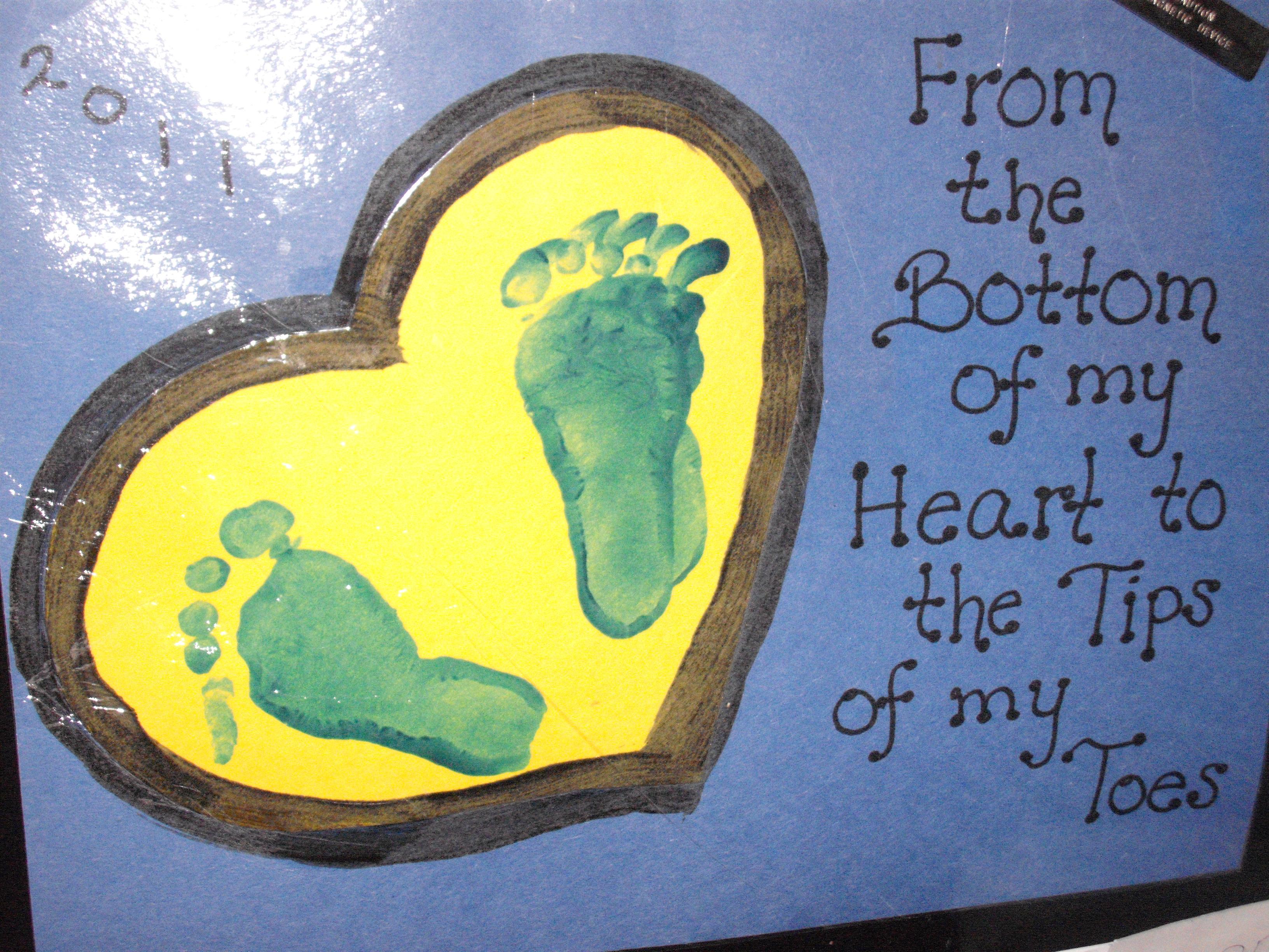handprint poem gift
