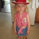 homemade halloween cowgirl jessie costume