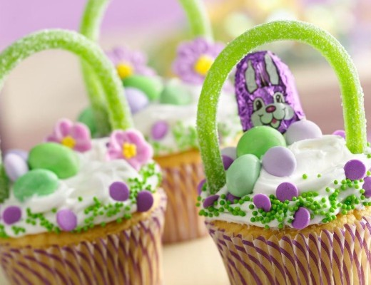 easter basket cupcakes cooking with children