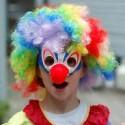 homemade halloween clown face costume