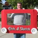 homemade halloween etch-a-sketch costume