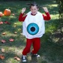 homemade halloween eyeball costume