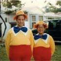homemade halloween disney tweedle dee and tweedle dumb costumes