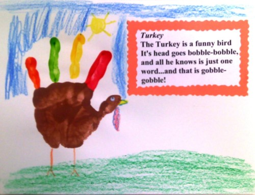 Handprint Gifts: 2 Thanksgiving Handprint Crafts and 2 Poems