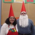 homemade halloween gnome couple costume