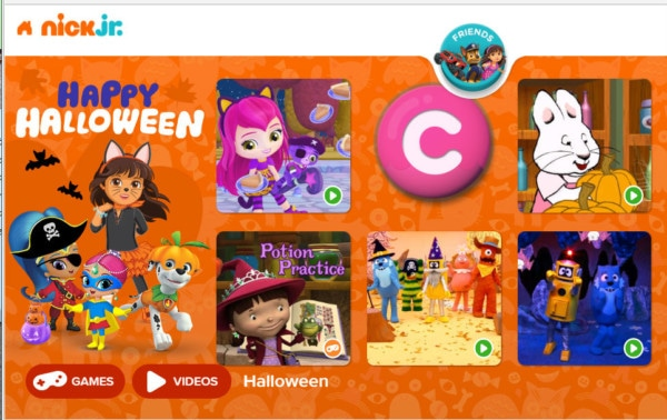 online halloween games for younger kids