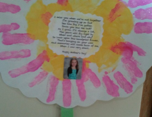 Gift for Grandparents: Handprint Flower and Poem