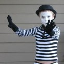 homemade halloween street mime costume