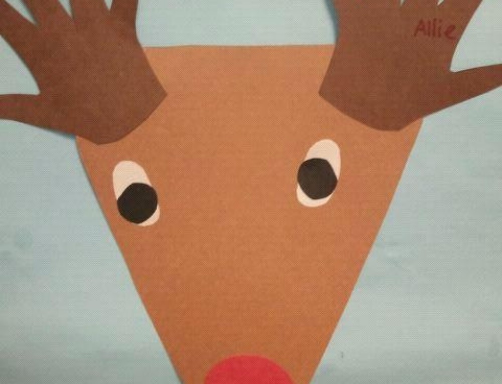 Christmas Handprint Craft: Rudolph the Red Nosed Reindeer and Movie