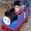 homemade halloween thomas tank engine costume