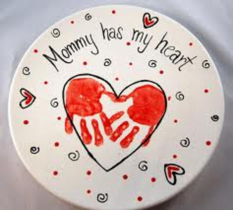handprint heart valentine