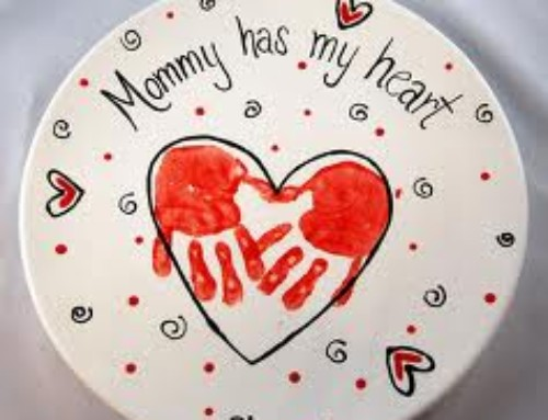 Heart Handprint Gift | DIY Handpainted Plate