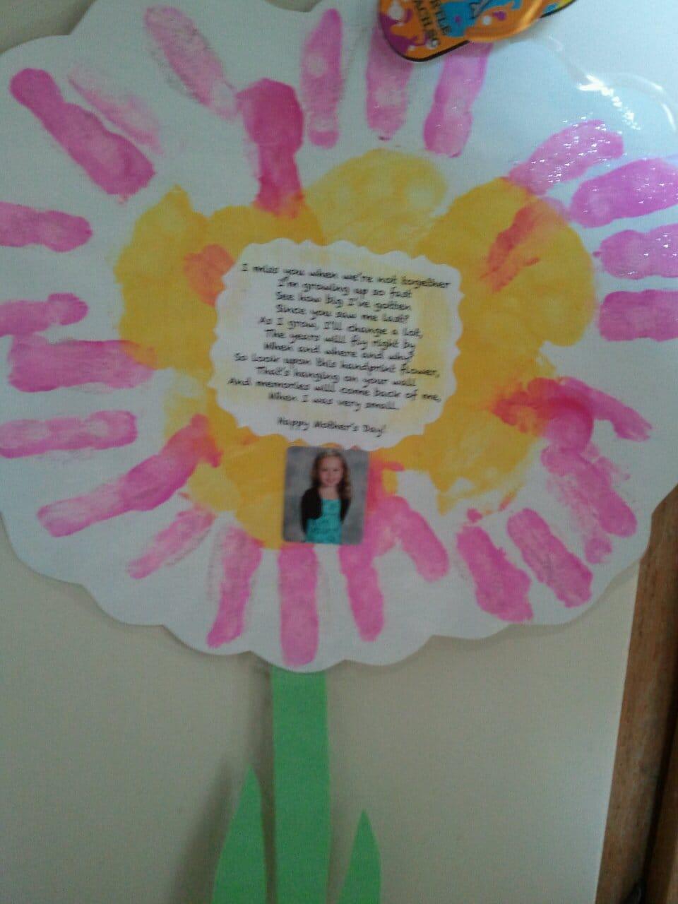 Gift For Grandparents Handprint Flower And Poem Nana S